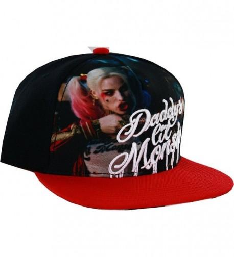 DC Comics Suicide Squad Logo Snapback Hat (Red/Black) - CC12LNZ4N69