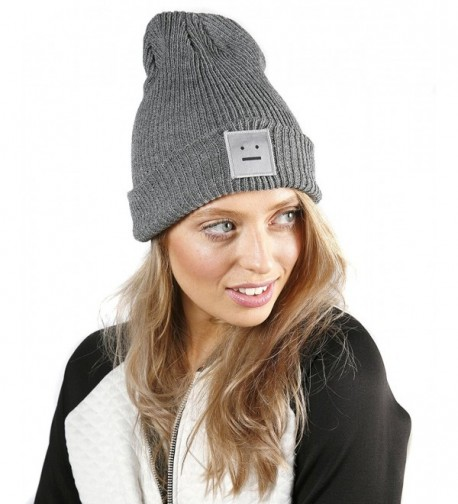 Unisex Beanie Embroidered Smiley Design