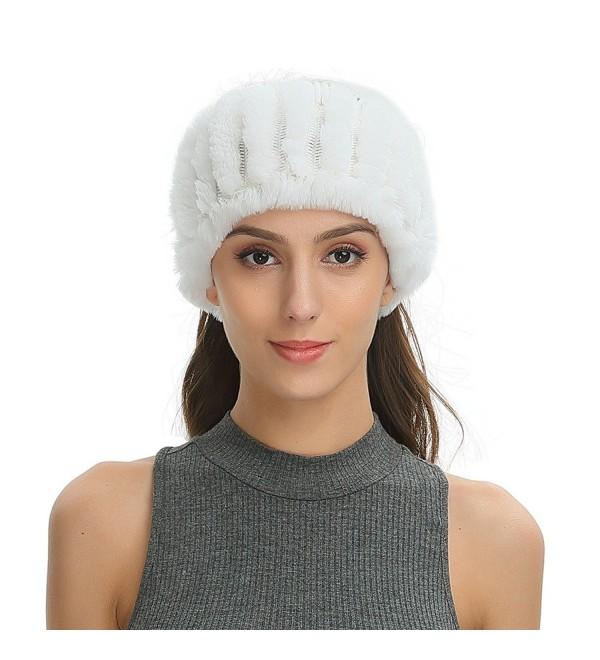 Ferand Womens Headband Knitted Convertible - White - CK188IS7ZGC