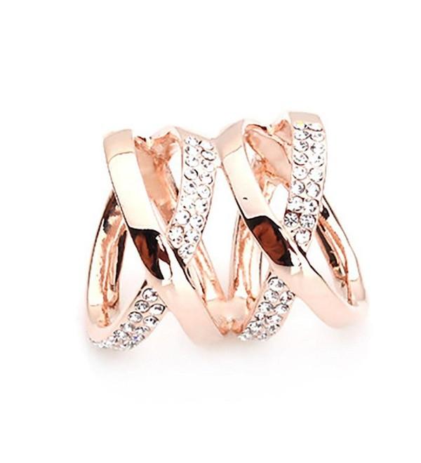 DYCARFELL Women's Rhinestone Double X Shape Scarf Clip - Champagne - CE11OWNRGYB