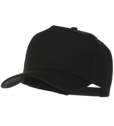 Solid Cotton Twill Pro style Golf Cap - Black - C011918E3AB