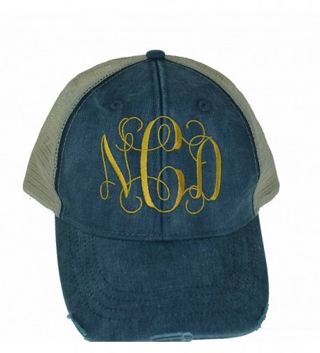 Marys Monograms Monogrammed Distressed Trucker