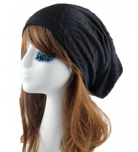 Urban Virgin Original Cap Beanie Cap Hat Warm and Durable Stretchy Slap Cap Soft Beanie Hats for Women - Black - C9183TWO0Y4