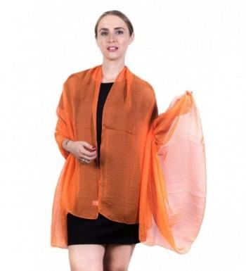 Fashmina Silky Chiffon Light Scarf - Orange - CU185A44IKT