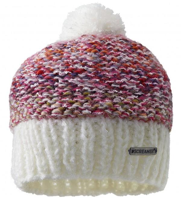 Screamer Women's Chellene Beanie Hat - Rose - C211MM5YRQB