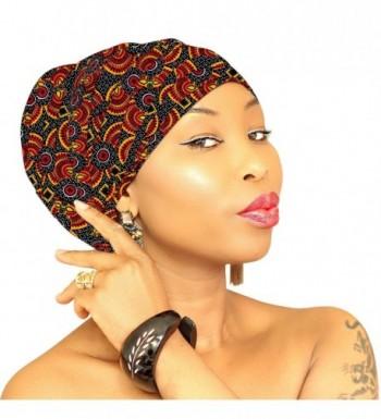 Premium & Fancy Large Head Wrap- Head Scarves- Head Bands for Women in Cotton - Multi-orange-yellow - CO186HNQ96R