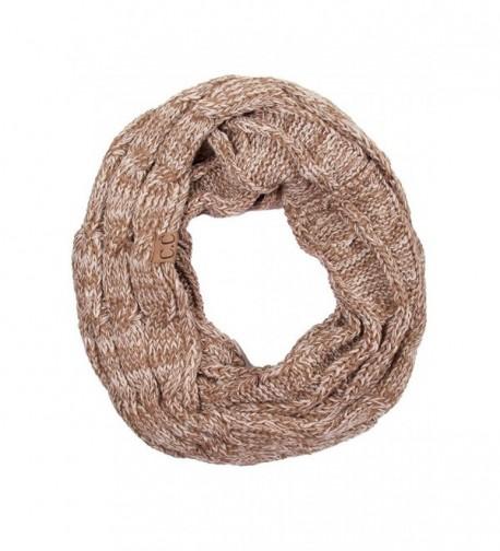 ScarvesMe CC Trendy Warm Chunky Soft Cable Knit Infinity Scarf - Taupe - CL12M0KN8OJ