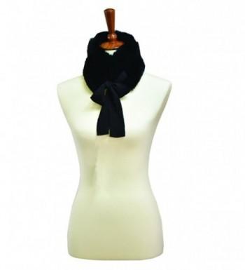 Faux Fur Collar Scarf - Black - C21868YM9I3