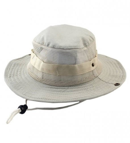 Sawadikaa Outdoor Boonie Hat Summer Sun Protect Caps Fishing Hats Mesh Bucket Hat - D - CM183OA8NTR