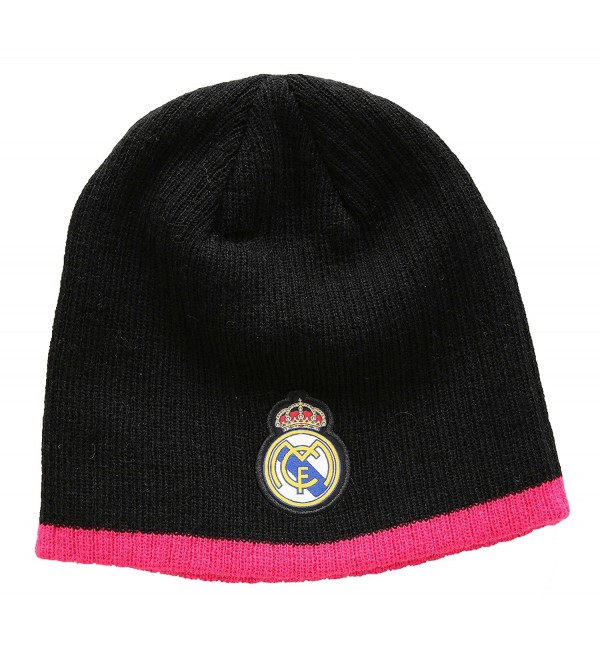 e240dbbfcd1723 Real Madrid FC Football Soccer Men's Beanie Hat - Black/pink - C811PMFPB8L