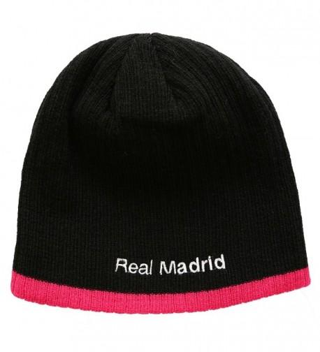f82f53e7366317 FC Football Soccer Men's Beanie Hat Black/pink C811PMFPB8L