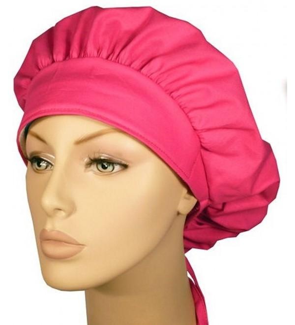 Designer Bouffant Medical Scrub Cap - Flamingo Pink - CW12ELBYF5L