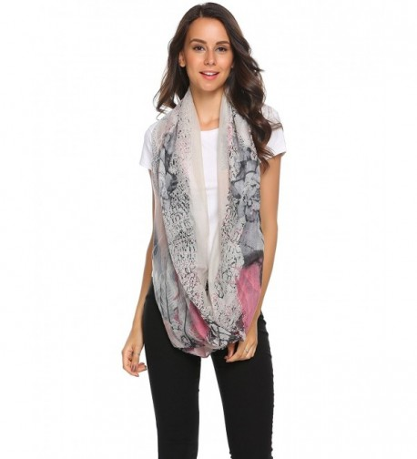 Womens 2PCS Thick Soft Printed Winter Infinity Circle Loop Scarf - 9 - C4185QRY3ZE