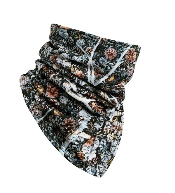 Turtle Fur Comfort Shell Bandana Face Shield- Micro Fleece Lined Neck Warmer - Tree Hugger - CH185XD5KCQ