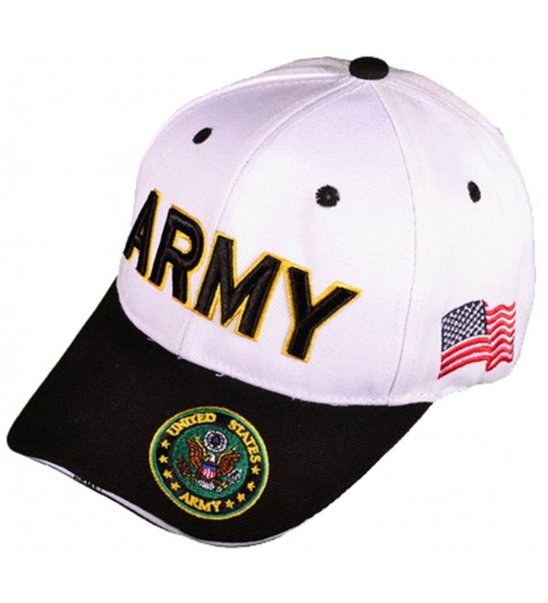 d2720d586f2893 Buy Caps and Hats U.S. Army Veteran Military Baseball Cap Mens One Size  White - CD11WELEP51