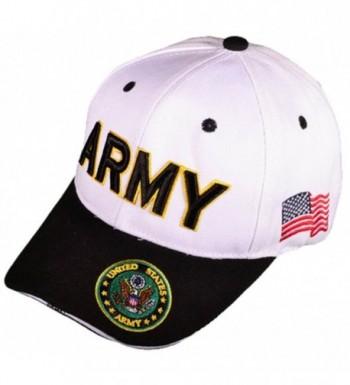 Buy Caps and Hats U.S. Army Veteran Military Baseball Cap Mens One Size White - CD11WELEP51