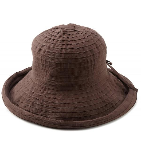 San Diego Hat Company Women's Ribbon Hat - Chocolate - CU116AWM9SJ