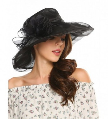 Zeagoo Vintage Floral Organza Summer in Women's Sun Hats