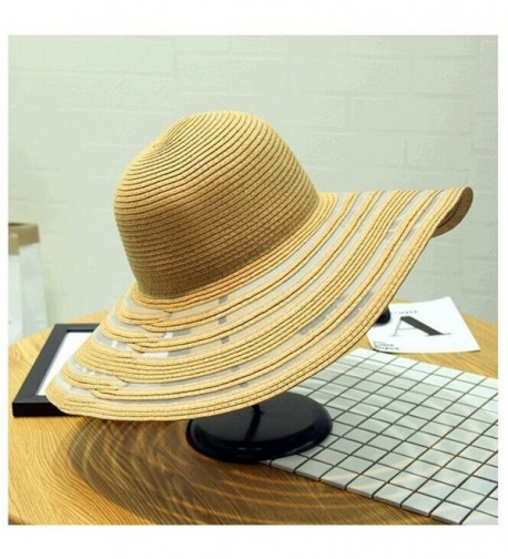 orota beach hats for women&ladies wide brim hats sun hat womens floppy straw hat - kaiki - C112FBHQ4Q7