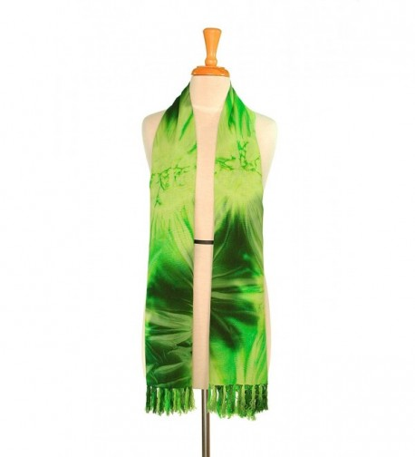 1WS Womens Tie Dye Extra Wide Neck Scarf - in your choice of colors - Tdye-3 - CA1158Q2JWP