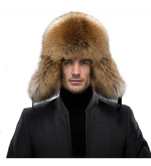 cef09cfd3 Men's Fur Hat Winter Real Raccoon Fur Cap Fox Fur Genuine Leather Russia  Aviator Hats A-raccoon Fur C212MBDJGS7