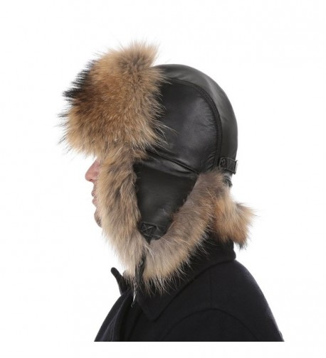 Queenfur Real Raccoon Genuine Leather in Women's Bomber Hats