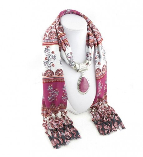 XUANOU Elegant Rhinestone Pendant Scarves in Fashion Scarves