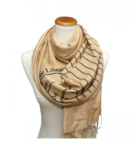 Book Scarf. Library scarf. Library scarf with day due stamps. Print scarf - C312NESZJQ3
