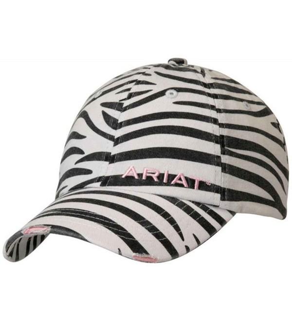 Ariat Accessories Women's Distressed Print Cap - Zebra - CK11NUBIDK7