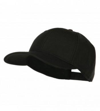 Solid Linen Pro Style Cap - Black - CW11LUH54YB