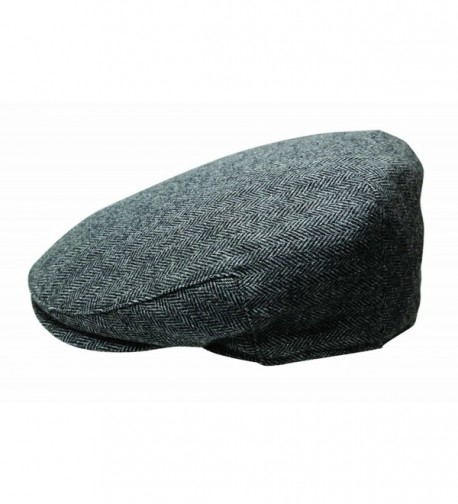 Quiet Man The Irish Designed Grey Herringbone Designed Flat Cap - CH12N2SJ5R0
