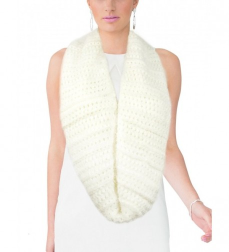 Dahlia Womens Knit Infinity Scarf in Fashion Scarves