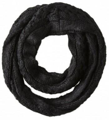 Dearfoams Women's Cable-Knit Infinity Scarf - Black - C011OM157BR