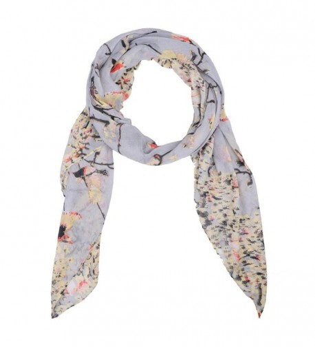 MissShorthair Womens Floral Scarves Butterfly in Fashion Scarves