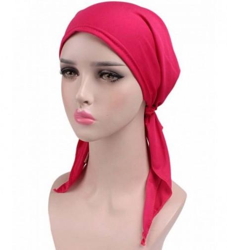 Womens Ruffle Beanie Turban Headwear in Fashion Scarves