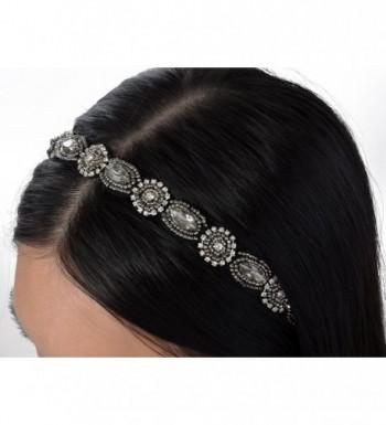 Alilang Elastic Rhinestone Metallic Headband