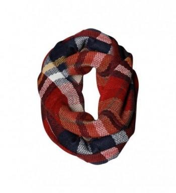 All American Plaid Tartan Infinity Scarf Funky Monkey Fashion Warm Cozy Scarves - CO1874W8756