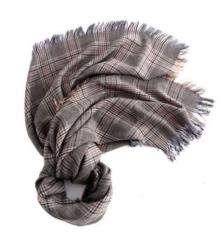 Blanket Scarf Tassel Warm Classic Plaid Tartan Cashmere Scarf - CF187ISC8G3