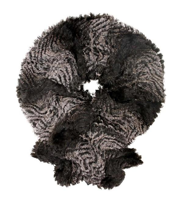 Gradient Plush Faux Fur Scarf - Brown - CT11C9B14P5