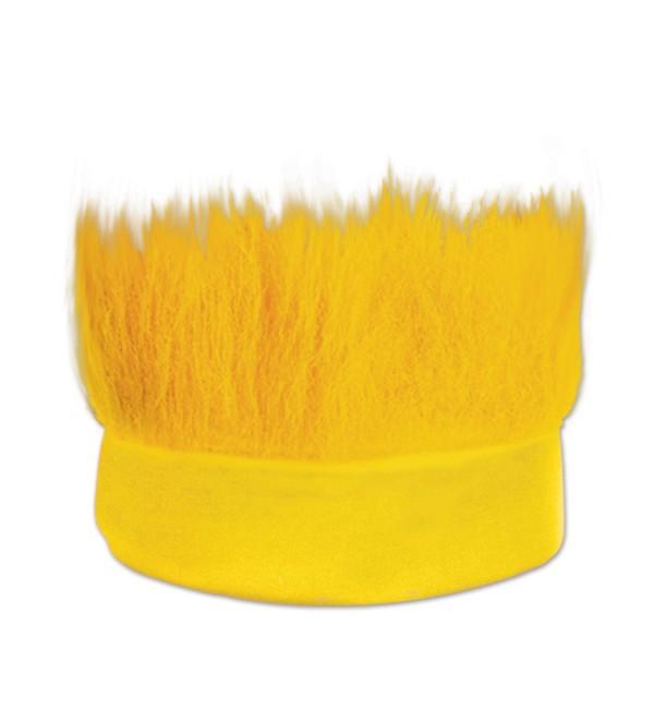 Beistle Hairy Headband- Yellow - Yellow - CU11053ZJ7X
