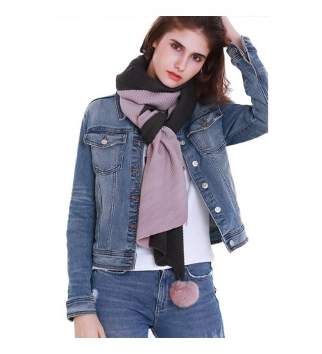 Fashion Knitted RiscaWin Raccoon Charcoal - Pom Pom Charcoal Pink - CU185D8H7M4