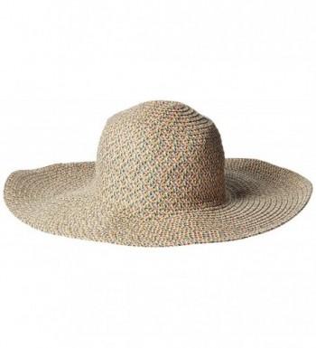 San Diego Hat Company Women's 5-Inch Round Crown Sun Hat - Ivory Mix - CV126AORN69