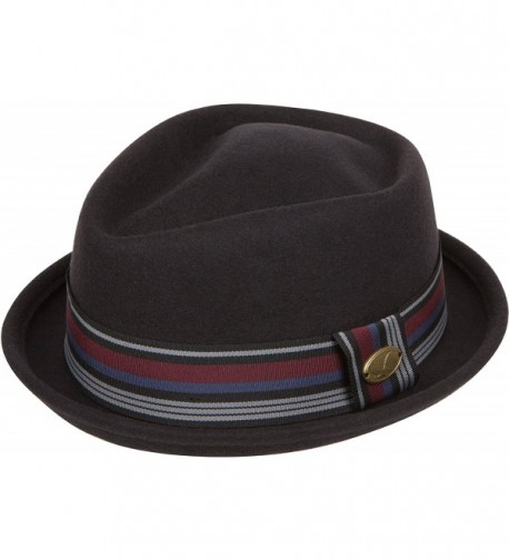 Sakkas Arthur Striped Band Homburg Wool Fedora - Black - CI12N1N5SL0