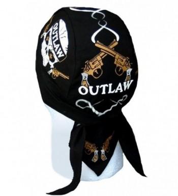 Skull Cap Biker Caps Headwraps Doo Rags - Outlaw - CK12ELHM54N