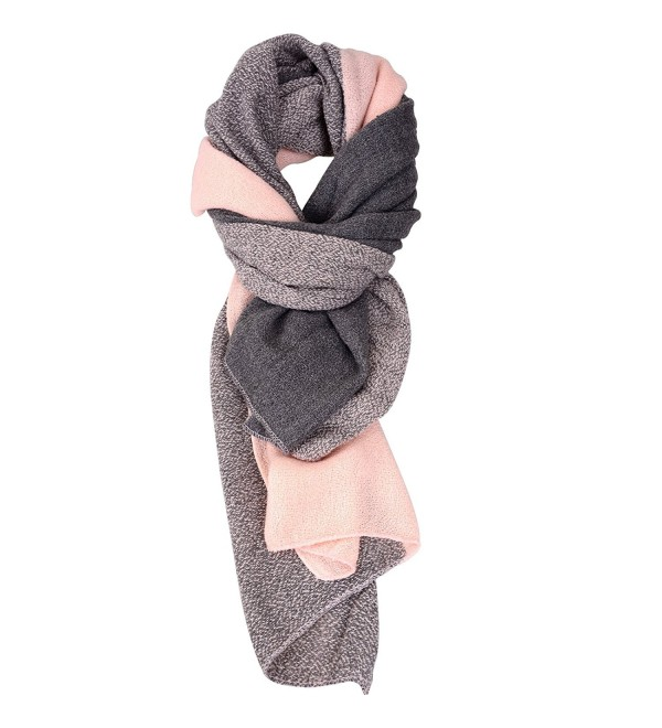 Winter Cashmere Scarves for Women Men Shawl Scarfs and Wraps - Pitting Pink - CO12N9HJ98Q