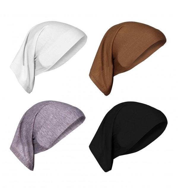 AIYUE Beanie Headscarf Headwear Chemo Turban Cancer - Black/White/Grey/Coffee - CZ18666KH0N