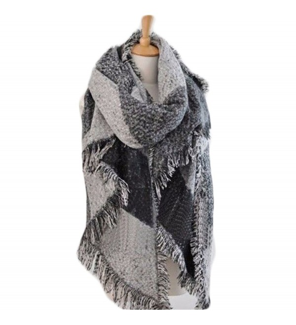 Blanket Cashmere Scarves Checked classic - Classic Gray - CG187Q6STW6