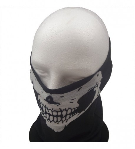 JJ Gear 12 in 1 Head Band- Neck Gaiter- Bandana- Sun Buffer - 2 Pk. - black and white skull - CK11U48JIPN