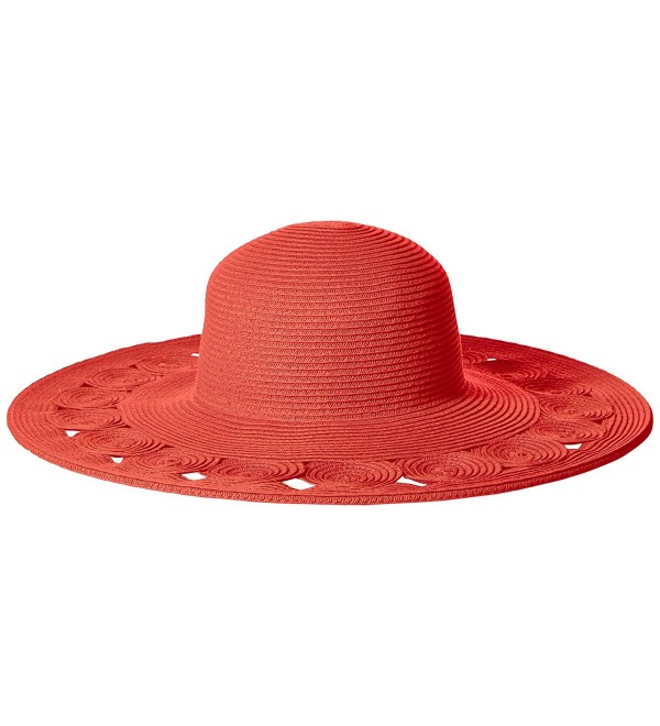 San Diego Hat Company Women's Sun Brim Hat With Open Weave Brim Edge - Coral - CO126AORCSD
