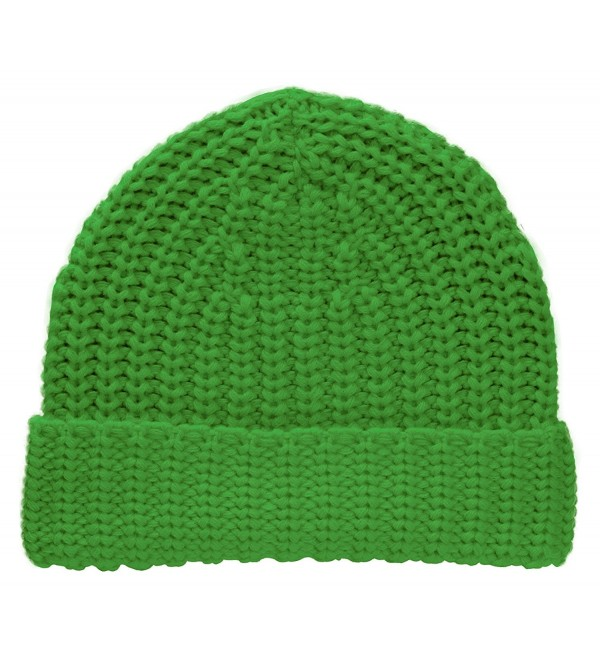 TopHeadwear Knitted Cuffed Beanie - Kelly Green - CT11SOHAX63